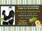 King Of the Jungle Baby Shower Invitations King Of the Jungle Ultrasound sonogram Baby Shower