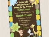 King Of the Jungle Baby Shower Invitations Printable Invitation King Of Jungle Animal Baby Shower