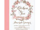 Kitchen Tea Party Invitation Ideas Pink Floral Wreath Kitchen Tea Party Invitation Zazzle