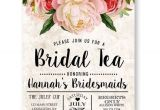 Kitchen Tea Party Invitation Ideas Tea Stained Floral Bridal Tea Invitation Bridesmaid