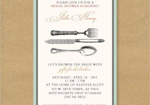 Kitchen themed Bridal Shower Invitations Bridal or Wedding Shower Invitation Kitchen themed by Henandco