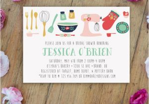 Kitchen themed Bridal Shower Invitations Kitchen Bridal Shower Invitation Printable by Karlykdesignshop