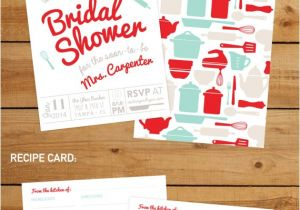 Kitchen themed Bridal Shower Invitations Kitchen themed Bridal Shower Invitation and Decor by Dcstudios