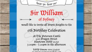Knight Party Invitation Template Knight Party Invitations Template Knights Birthday Party