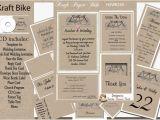 Kraft Paper Wedding Invitation Kit Kraft Paper Bike Wedding Invitation Kit On Cd Ebay