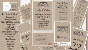 Kraft Paper Wedding Invitation Kit Kraft Paper Bike Wedding Invitation Kit On Cd Ebay