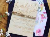 Kraft Paper Wedding Invitation Kit Pocket Style Sets Modern Calligraphy Rhpinterestcouk U