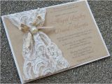 Lace and Pearls Bridal Shower Invitations Abigail Lace & Burlap Wedding Invitation Customizable