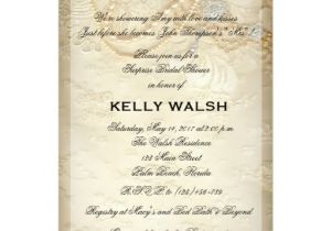 Lace and Pearls Bridal Shower Invitations Bridal Shower Invitation Lace and Pearls