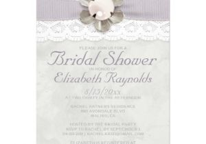 Lace and Pearls Bridal Shower Invitations Elegant Lace and Pearls Bridal Shower Invitations Invites
