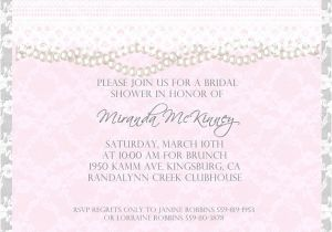 Lace and Pearls Bridal Shower Invitations Items Similar to Custom Lace and Pearl Bridal Shower