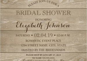 Lace and Pearls Bridal Shower Invitations Lace Wood Bridal Shower Invitations Rustic Lace and