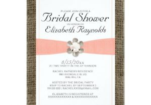 Lace and Pearls Bridal Shower Invitations Rustic Lace and Pearl Bridal Shower Invitations