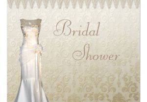 Lace and Pearls Bridal Shower Invitations Vintage Wedding Gown Pearls & Lace Bridal Shower 5 25×5 25