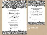 Lace Wedding Invitation Template Free Pdf Wedding Invitation Template Black Lace Vintage
