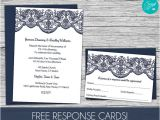 Lace Wedding Invitation Template Lace Wedding Invitation Template Free Response Card Template