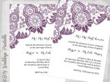 Lace Wedding Invitation Template Lace Wedding Invitation Template Plum Purple Antique