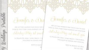 Lace Wedding Invitation Template Wedding Invitation Template Lace Trim Silver