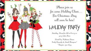 Ladies Christmas Party Invitations Ladies Christmas Party Invitations Oxsvitation Com