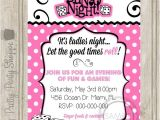 Ladies Only Party Invitation Wording Bunco Night Ladies Night Party Invitation