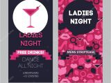 Ladies Only Party Invitation Wording Girls Only Party Invitation Template Stock Vector
