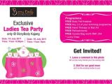 Ladies Tea Party Invitations Bizzy Body Exclusive Tea Party Invitation and Freebies