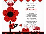 "Lady Bug Baby Shower Invitations Cute Ladybug Baby Shower Invitation 5 25"" Square"