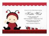 "Lady Bug Baby Shower Invitations Lady Bug Baby Shower Invitation 5"" X 7"" Invitation Card"
