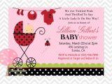 Lady Bug Baby Shower Invitations Ladybug Baby Shower Invitation Ladybug Invite for Baby
