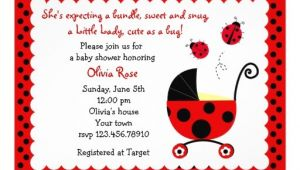 "Lady Bug Baby Shower Invitations Ladybug Baby Shower Invitations 5"" X 7"" Invitation Card"
