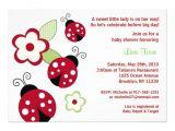 Lady Bug Baby Shower Invitations Red Ladybug Flower Custom Baby Shower Invitations