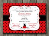 Ladybug Baby Shower Invites Printable Ladybug Baby Shower Invitation