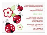 Ladybug Baby Shower Invites Red Ladybug Flower Custom Baby Shower Invitations