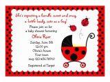 """Ladybug Invitations for Baby Shower Ladybug Baby Shower Invitations 5"""" X 7"""" Invitation Card"""