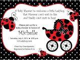Ladybug Invitations for Baby Shower Ladybug Baby Shower Invitations