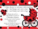 Ladybug Invitations for Baby Shower Ladybug Buggy Baby Shower Invitations