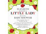 Ladybug Invitations for Baby Shower Personalized Ladybug Baby Invitations