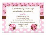 Ladybug Invitations for Baby Shower Pink Ladybug Baby Shower Invitations