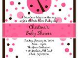 Ladybug Invitations for Baby Shower Pink Ladybug Baby Shower Invitations Party Xyz