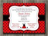 Ladybug Invitations for Baby Shower Printable Ladybug Baby Shower Invitation