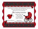 Ladybug themed Baby Shower Invitations Free Printable Ladybug Baby Shower Invitation