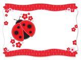 Ladybug themed Baby Shower Invitations Ladybug Baby Shower Invitations