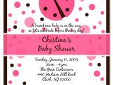 Ladybug themed Baby Shower Invitations Pink Ladybug Baby Shower Invitations Party Xyz