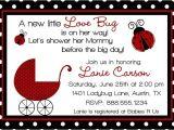 Ladybug themed Baby Shower Invitations Special Ladybug Baby Shower Design Ideas