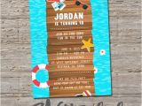 Lake Party Invitation Templates Free Lake or Beach Birthday Invitation Printable Diy