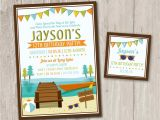 Lake Party Invitations Lake Birthday Party Invitations Kayak Party Summer Party