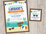 Lake Party Invitations Lake Birthday Party Invitations Summer Party Printable