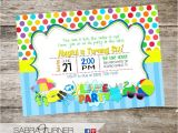 Lake Party Invitations Lake Party Birthday Invitation Swim Party Birthday
