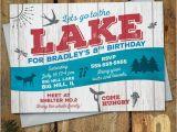 Lake Party Invitations Lake Party Kids Birthday Invitation Digital Printable