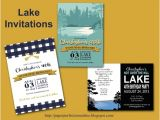 Lake Party Invitations Paper Perfection Lake Invitations